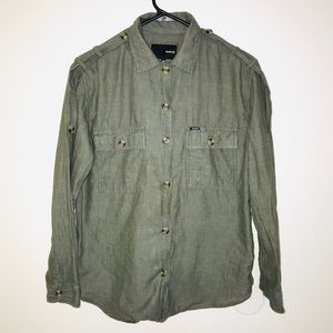Olive Green Hurley Button Down